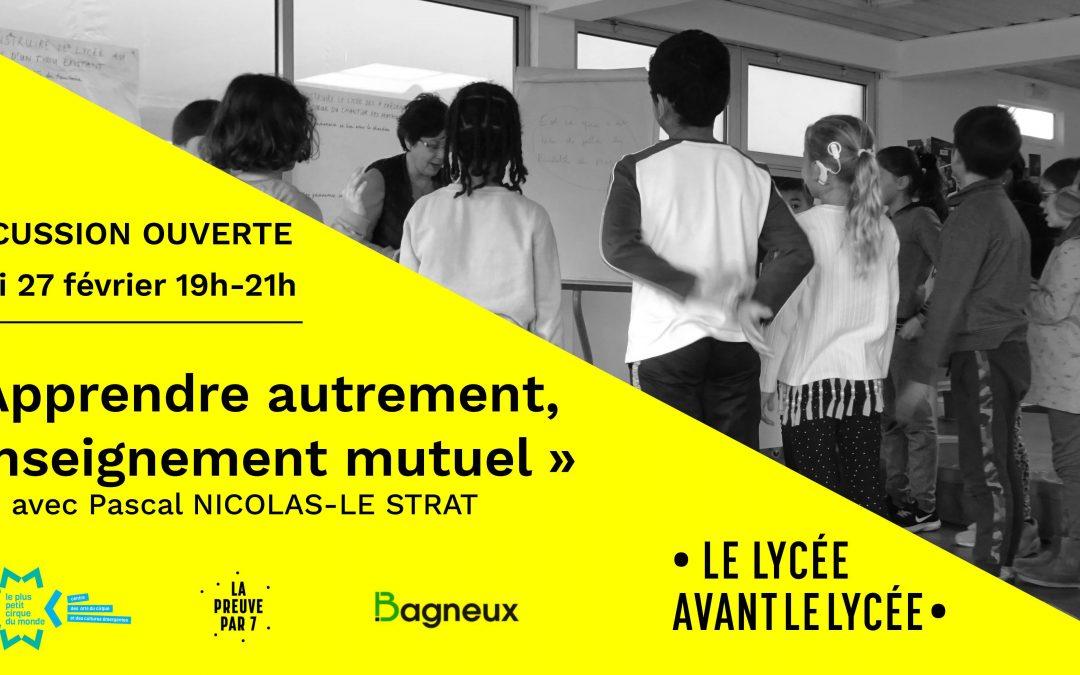 Discussion ouverte à Bagneux, jeudi 27 février à 19h